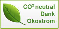 CO2 neutral Dank Ökostrom